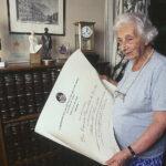 Fotografía de la Dra. Eugenia Sacerdote en 1998