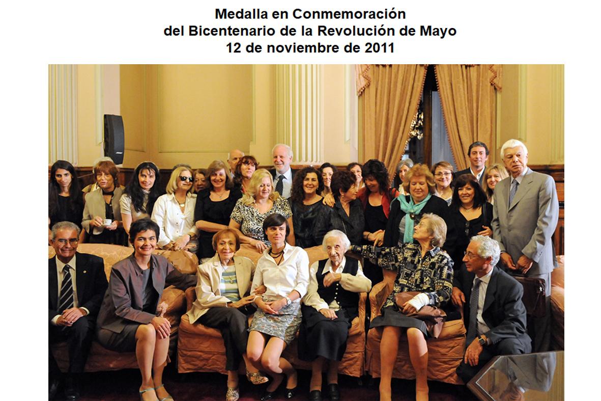 Premio del Bicentenario en el Senado de la Nación. Noviembre 2011
