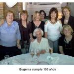 Fotografía de la Dra. Sacerdote en sus 100 años