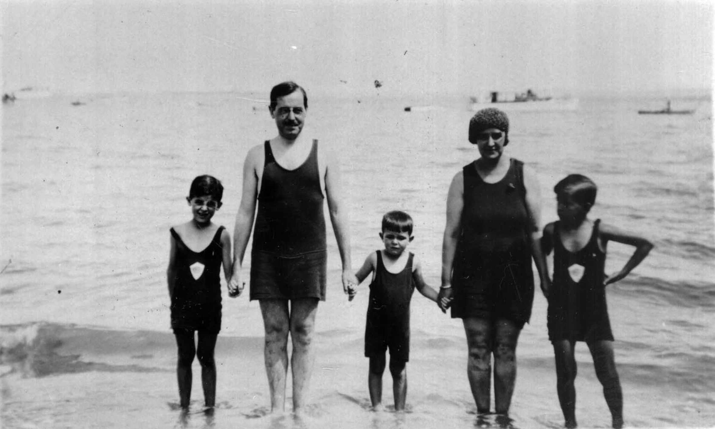 De vacaciones con su familia
