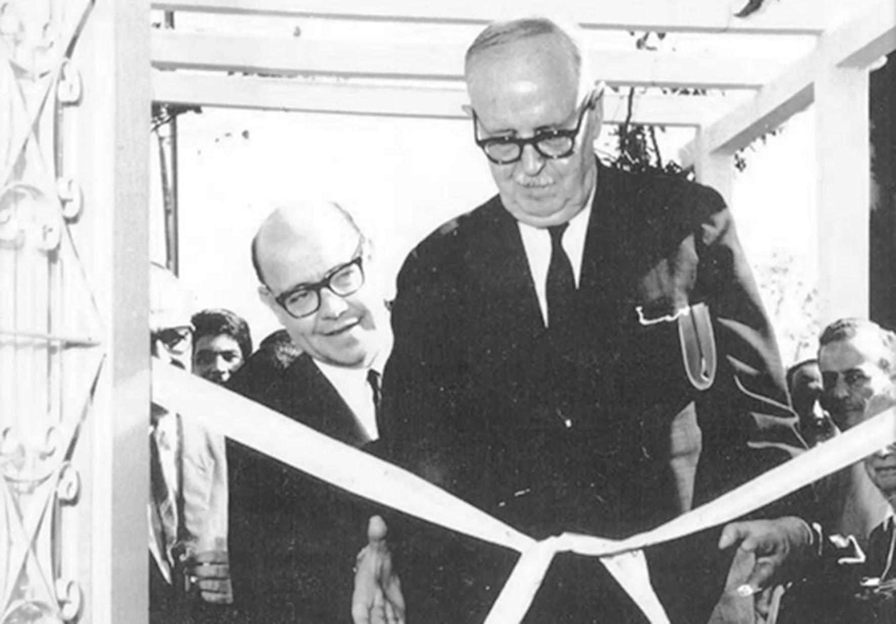 Con Argentino Bonetto, inaugurando el INALI.